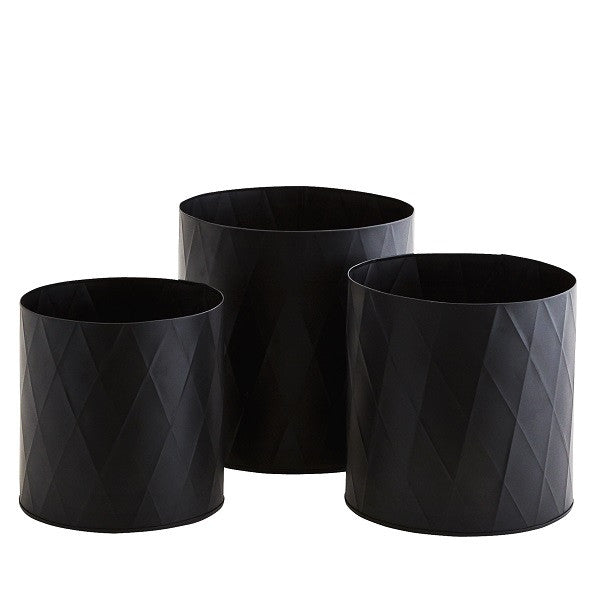 Black indoor Planter Pots NZ