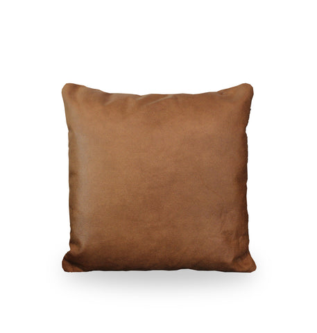 Vegan Leather Cushion | Brown
