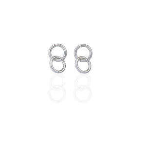 Steel Double Hoops | SILVER