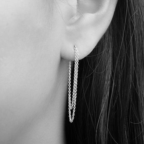Earrings | Sterling Chain Earrings