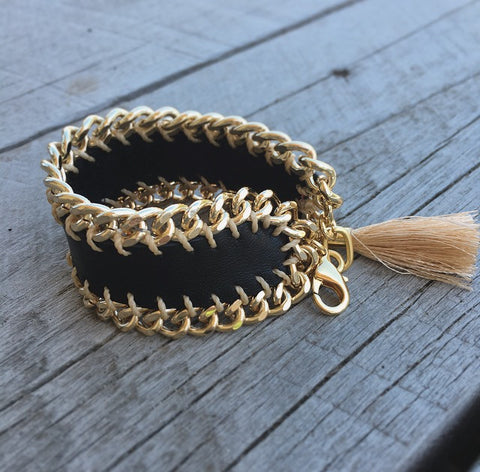 Ibiza Bracelet | Leather/Gold