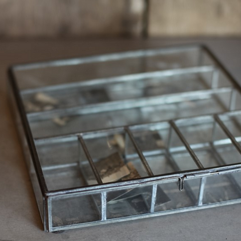 Nkuku Large glass & metal box