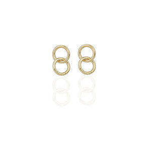 Steel Double Hoops | GOLD