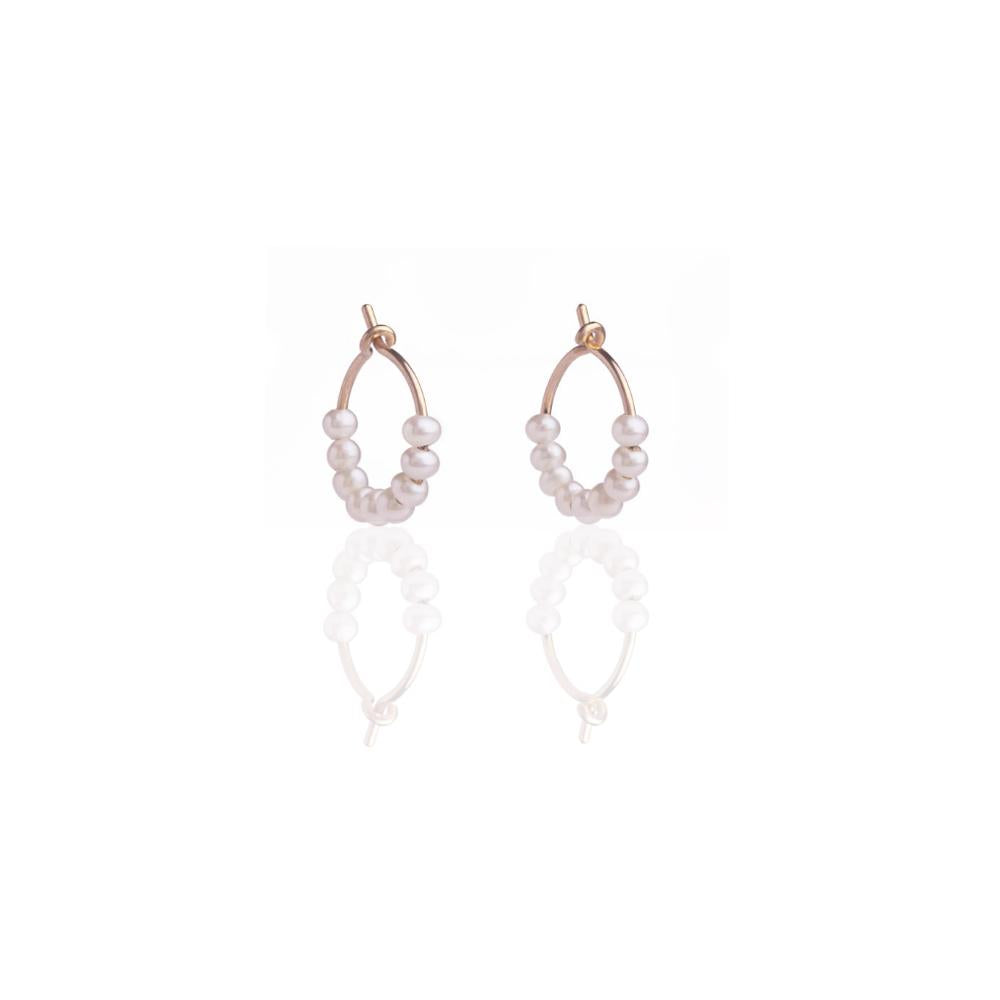 Earrings | Pearl Mini Hoops