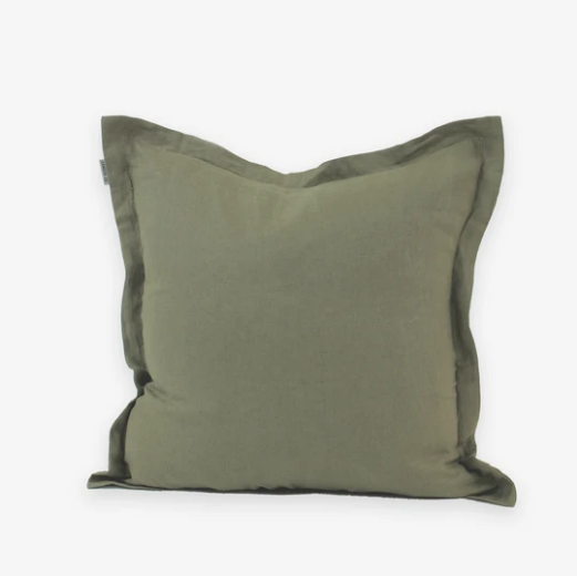 Linen Cushion | Green Moss