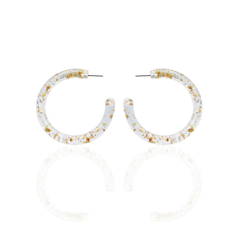 Earrings | Gold Flake Hoops