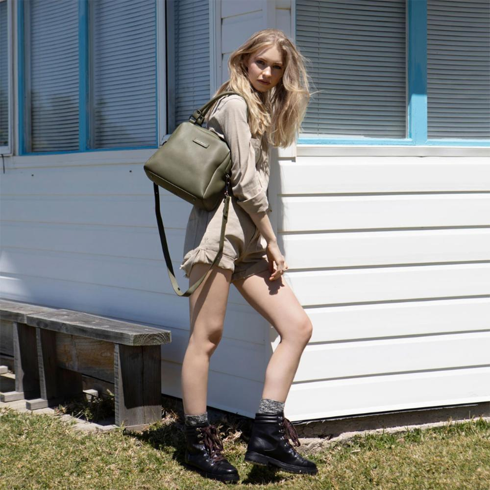 Army Green Leather Handbag