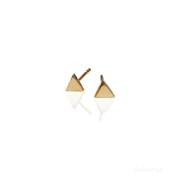 24K Gold Pyramid stud earrings