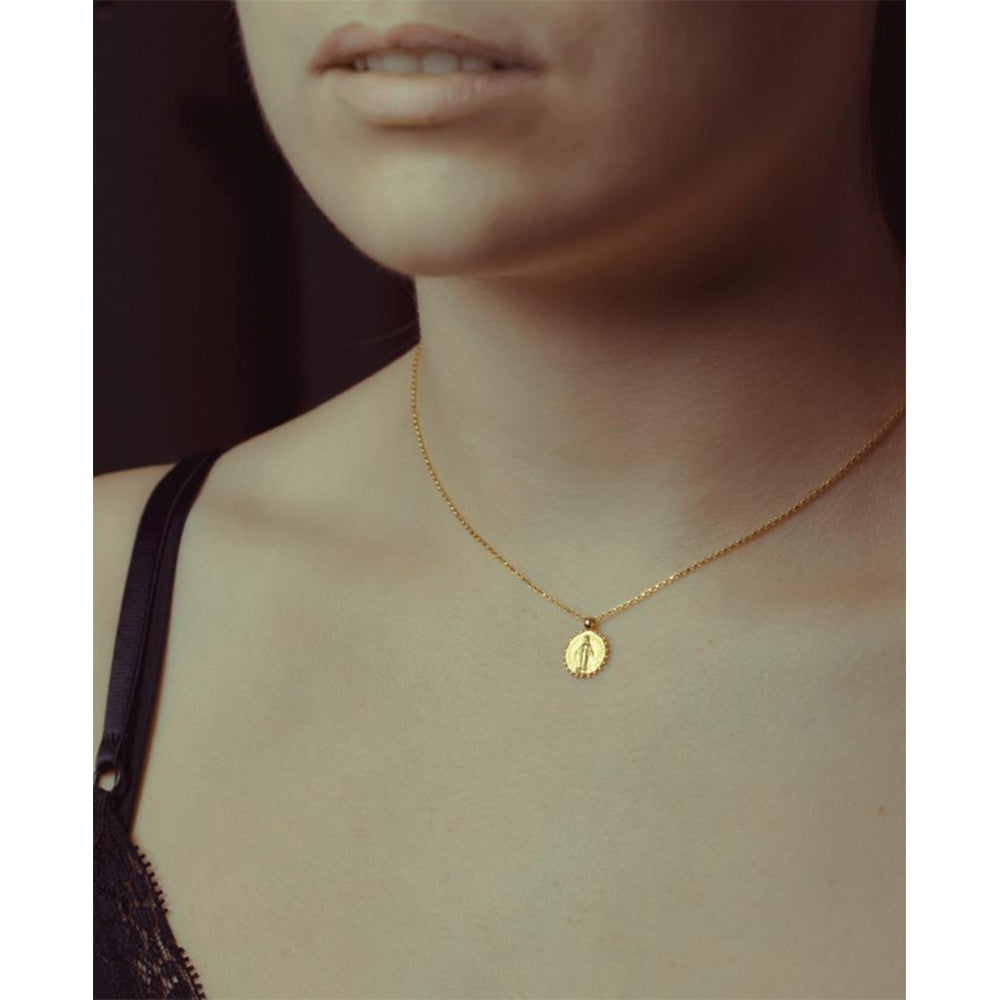 Necklace | 22k Coin Mary