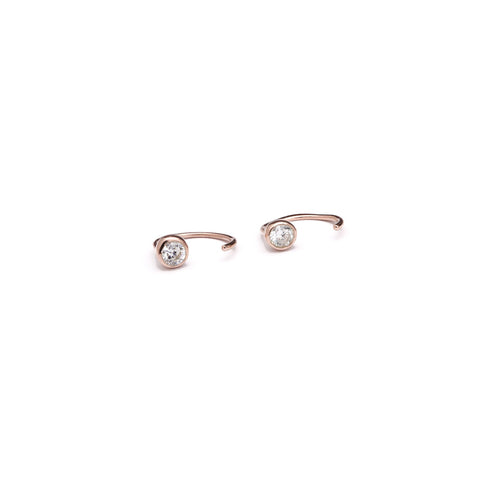 Earrings | Zirconia Hugger Hoops