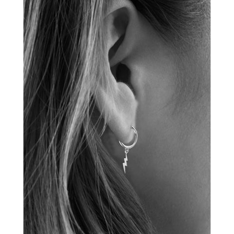 Earrings | Lightning Bolt Hoops
