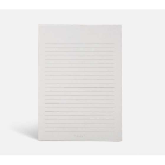 luxury notepad by Blacklist Stationary