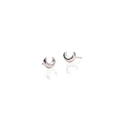 Earrings | Crescent Moon Studs