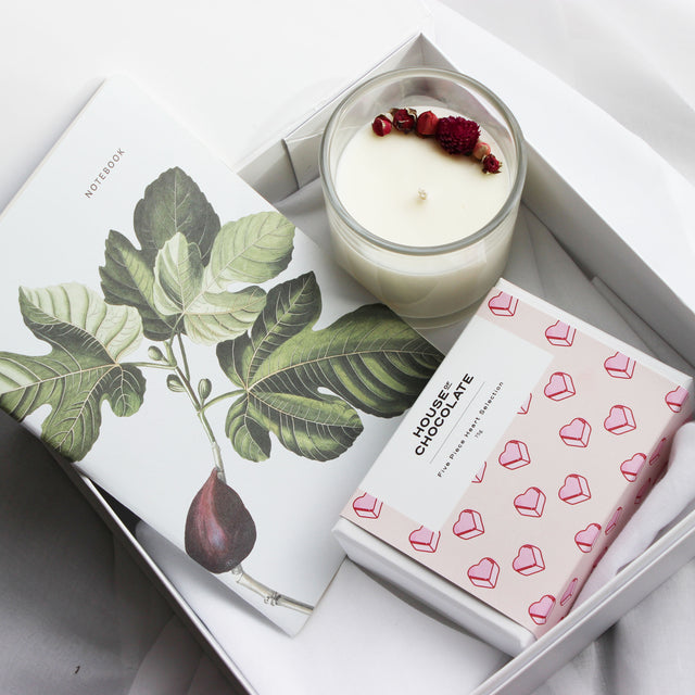 Luxury Gift | Notebook + Candle + Chocolates