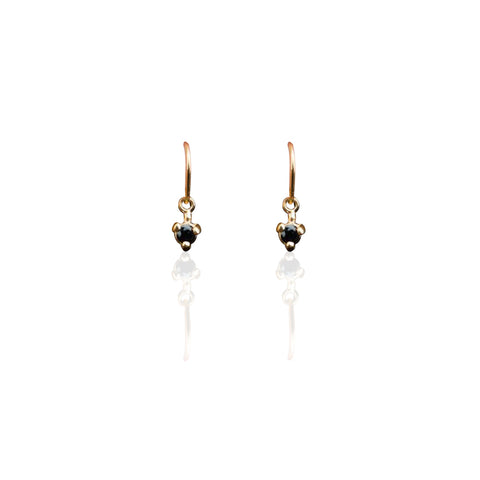Earrings | Droplet Earrings Onyx