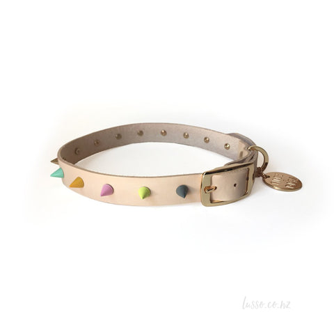 Spike Leather Collar | Pastel Party