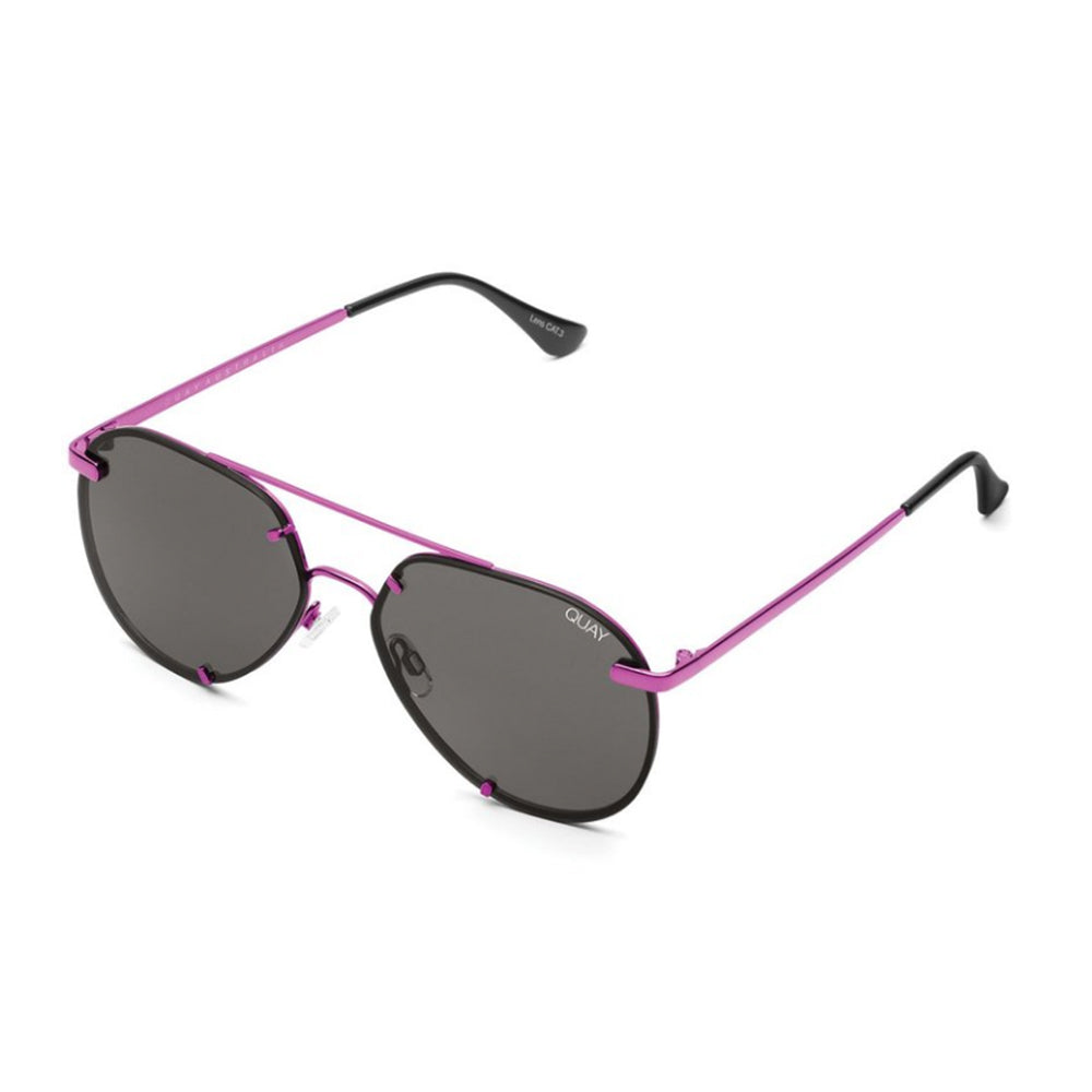 Quay Rebelle Pink Smoke Sunglasses side view