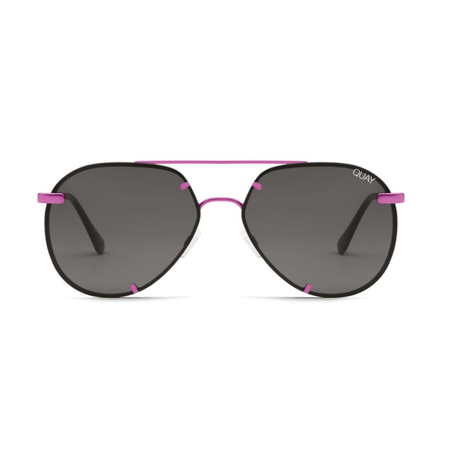 Quay Rebelle Pink Smoke Sunglasses