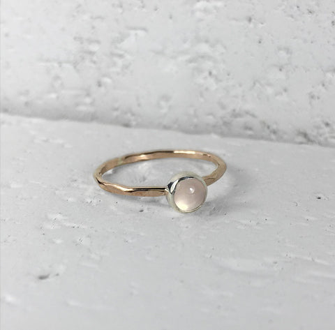 Ring | Rose Gold Quartz ring