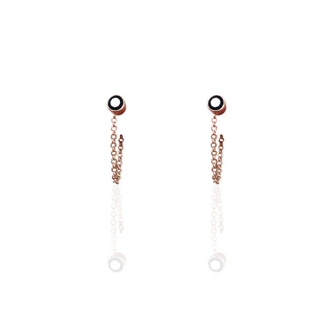 Earrings | Rose Gold Chain Drop