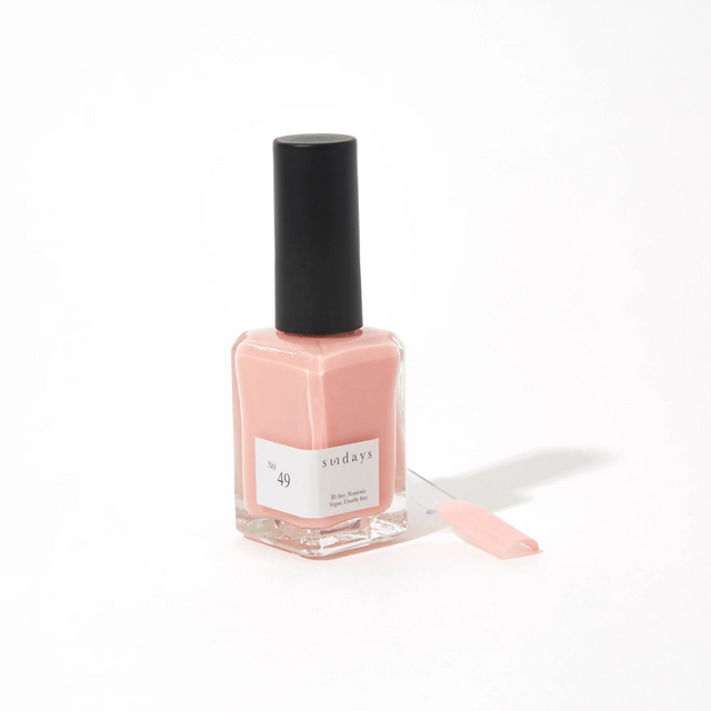 Sunday's Nail Polish |  Salmon Pink (sheer) No49