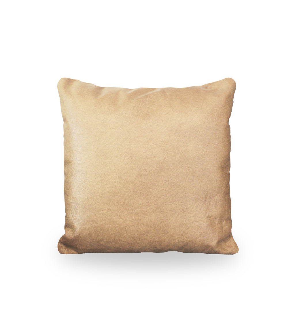 Sand Colour Leather Cushion Cover