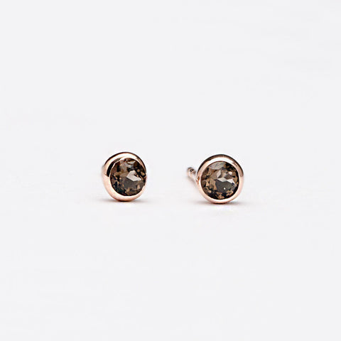 Earrings | Smoked Topaz Studs