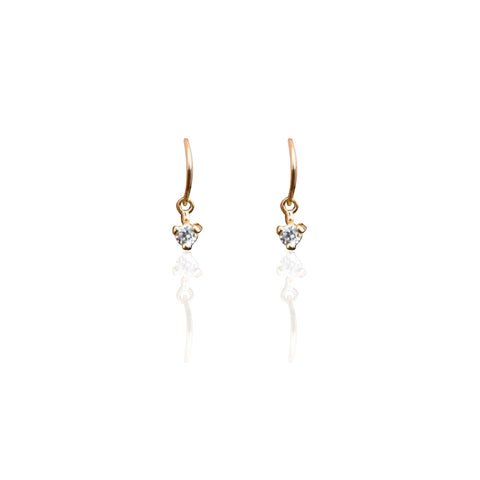 Earrings | Droplet Earrings CZ