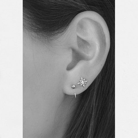 Stud Earrings | Northern Star CZ & sterling