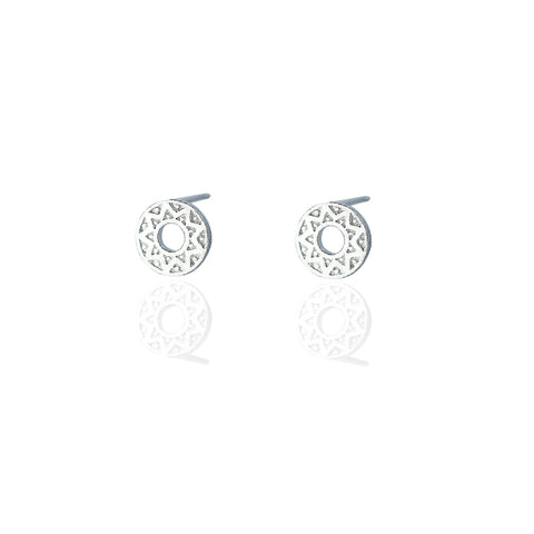 Stud Earrings | Geometric Disc