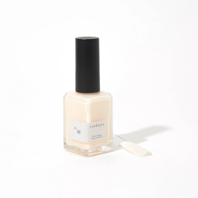 Sunday's Nail Polish | Soft Eggshell (sheer) No48