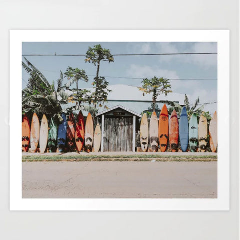 Art Print | California Surf Boards