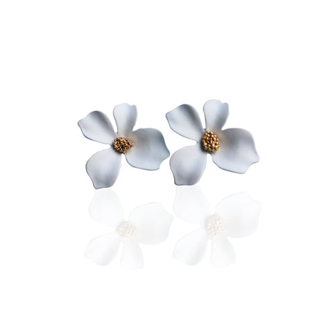 Bloom Earrings | White