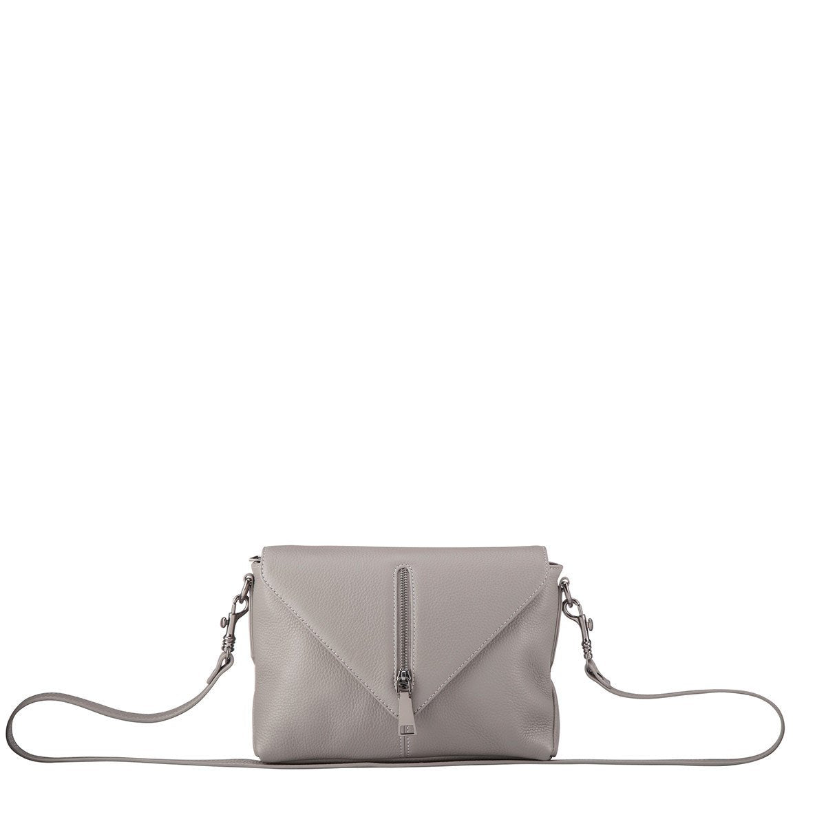 front view status anxiety exile bag in grey