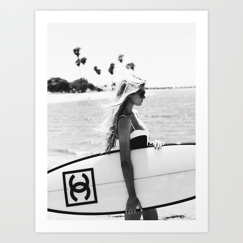 Chanel Surfer Art Print | A2