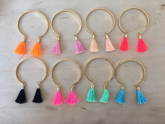 coloured tassel bracelet options