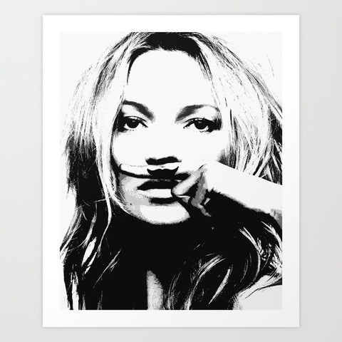 Kate Moss Art Print | Medium