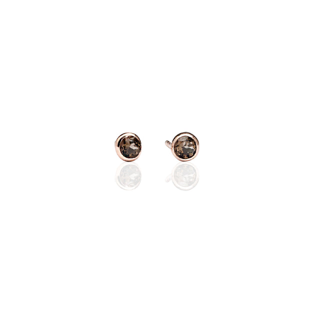 Smokey Topaz Stud earrings