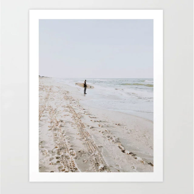 surf beach photographic art print nz