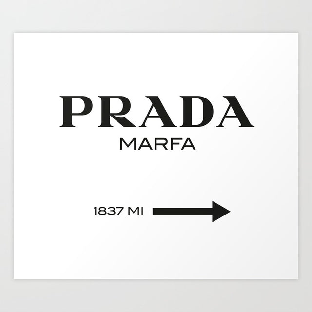Prada Sign Art Print New Zealand