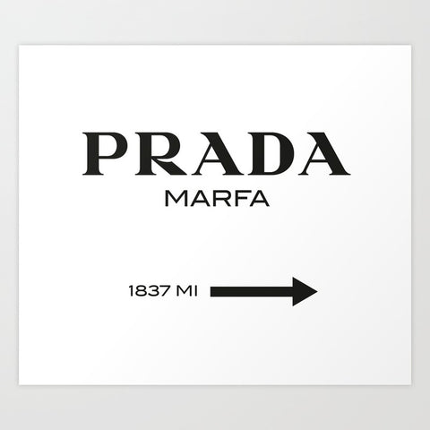Prada Marfa Art Print | Medium