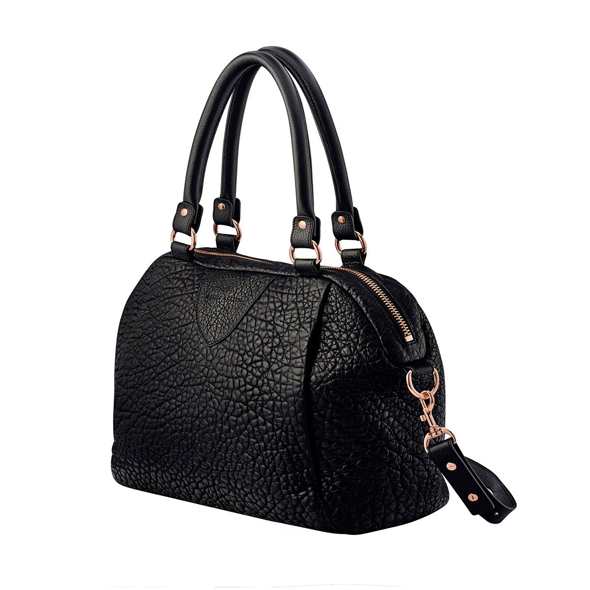 free courier Status Anxiety Force Of Being Bubble Leather Bag