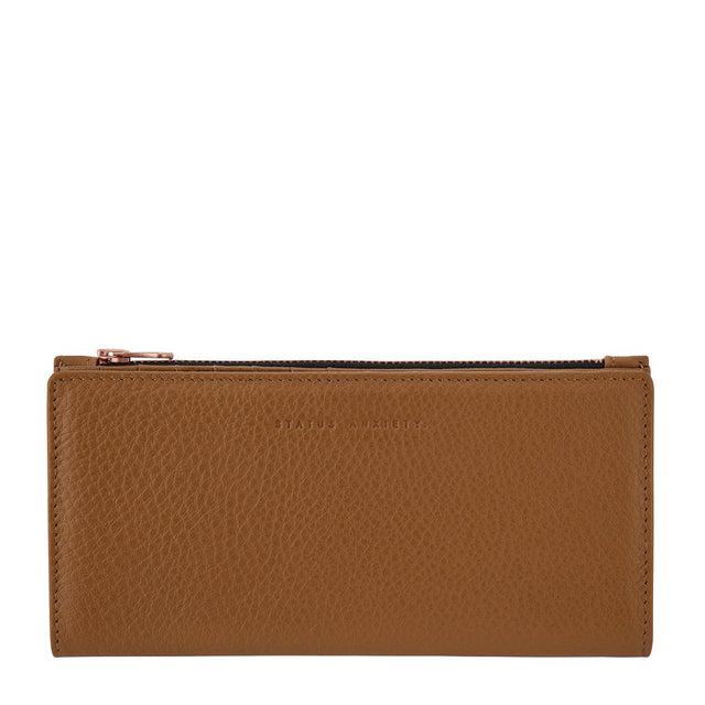 Status Anxiety In The Beginning Wallet Tan NZ