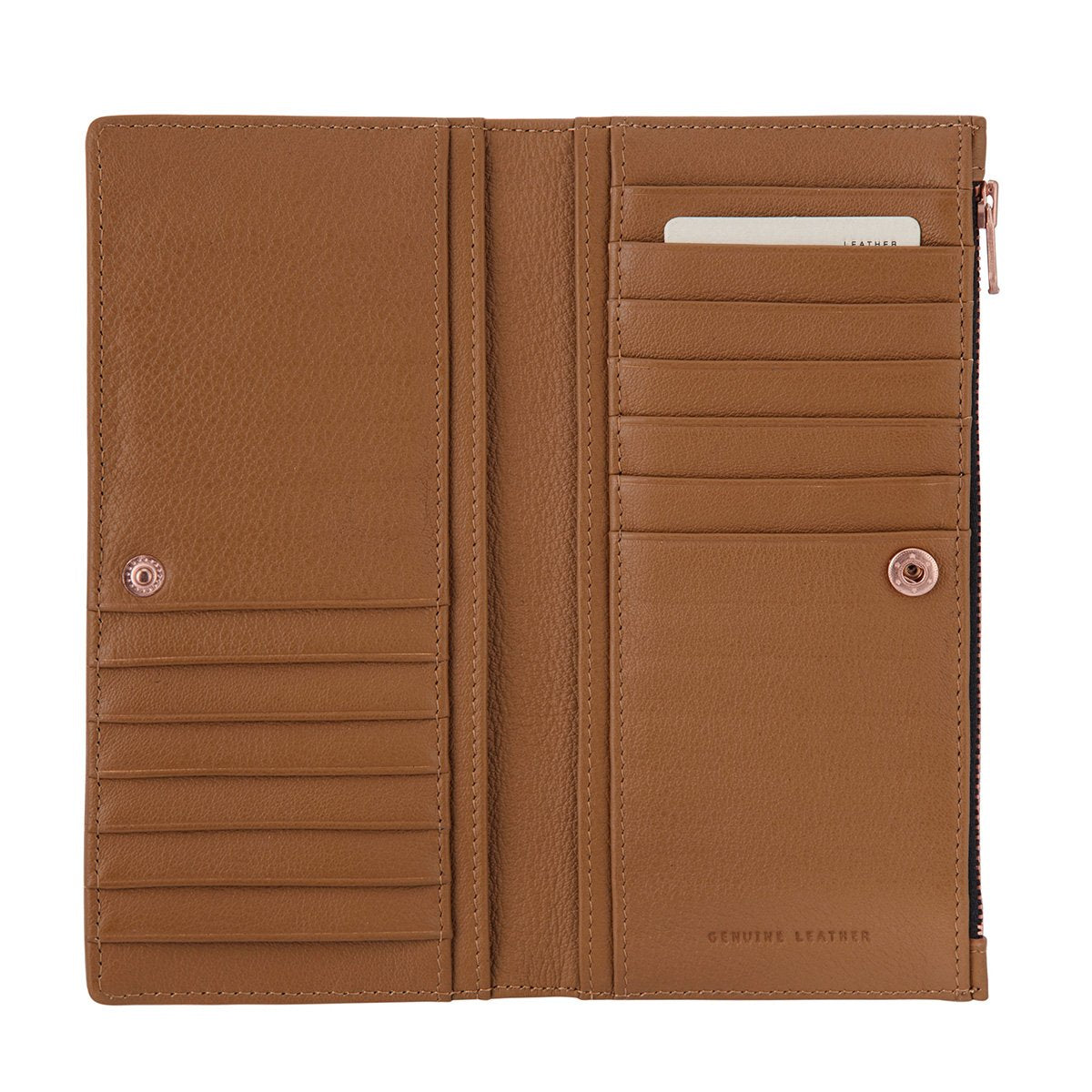 In The Beginning Wallet Tan Leather NZ