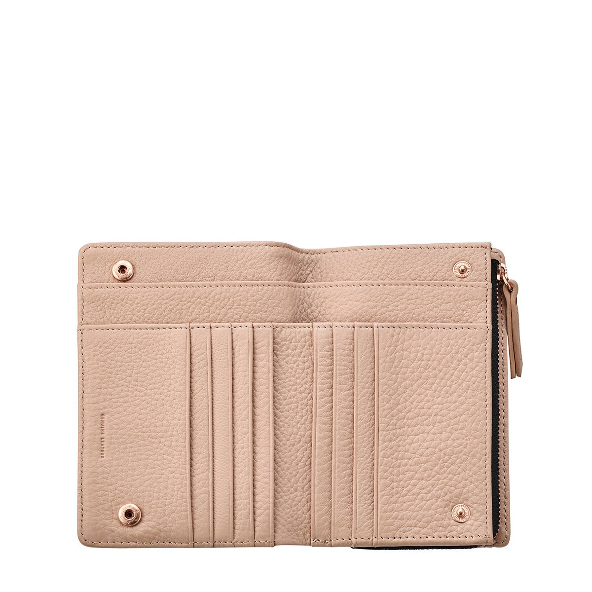 Status Anxiety Insurgency Wallet Blush Pink open view