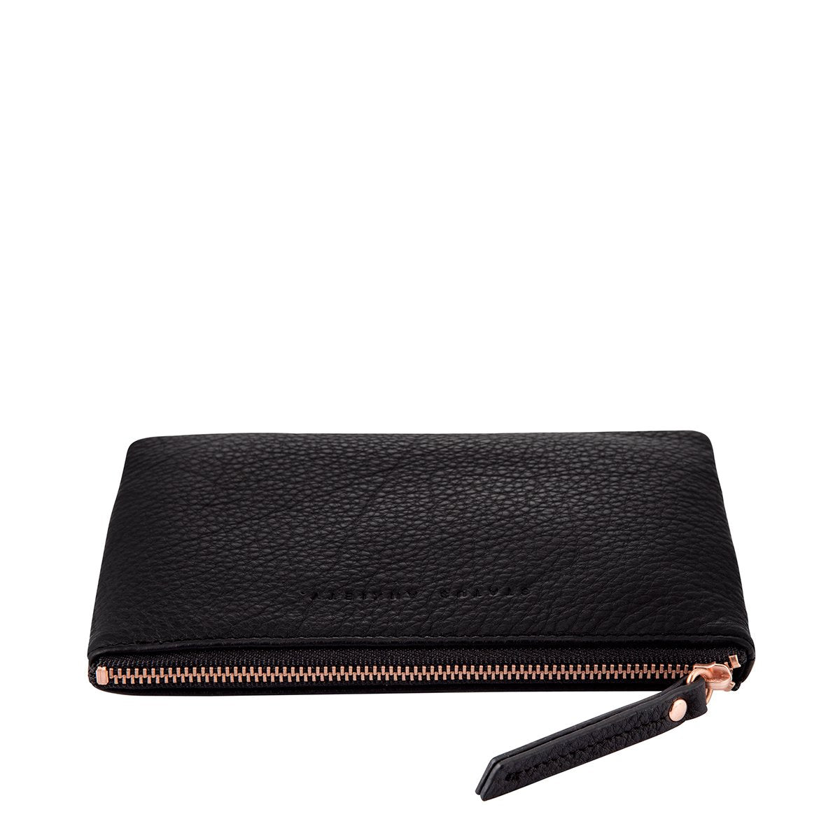 status anxiety treacherous pouch wallet black side view