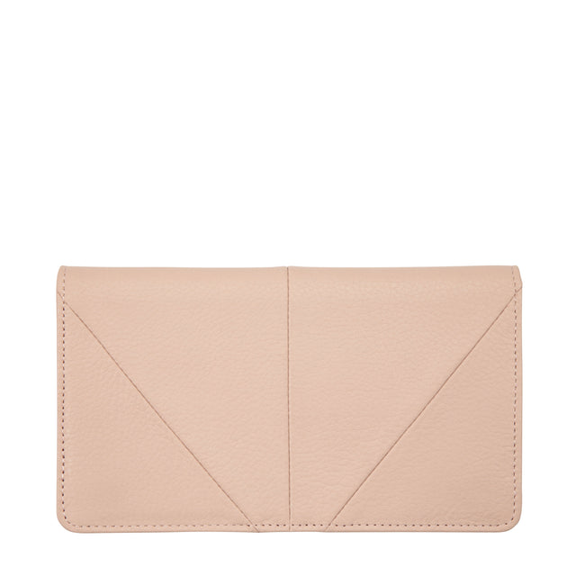 Dusty Pink Blush Leather Wallet