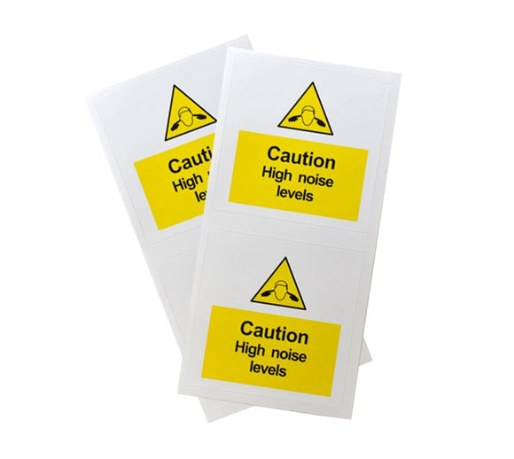 Caution High Noise Level Warnings