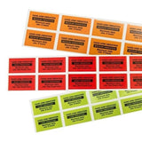 Hand-arm vibration Warning Labels - Supplied in packs of 10