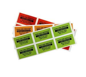 Hand-Arm Vibration Warning Labels - Multi Pack Of 60
